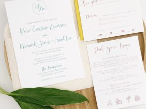 Simple Modern Wedding Invitations