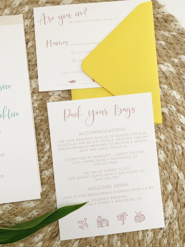 Wedding Invitations Travel Information