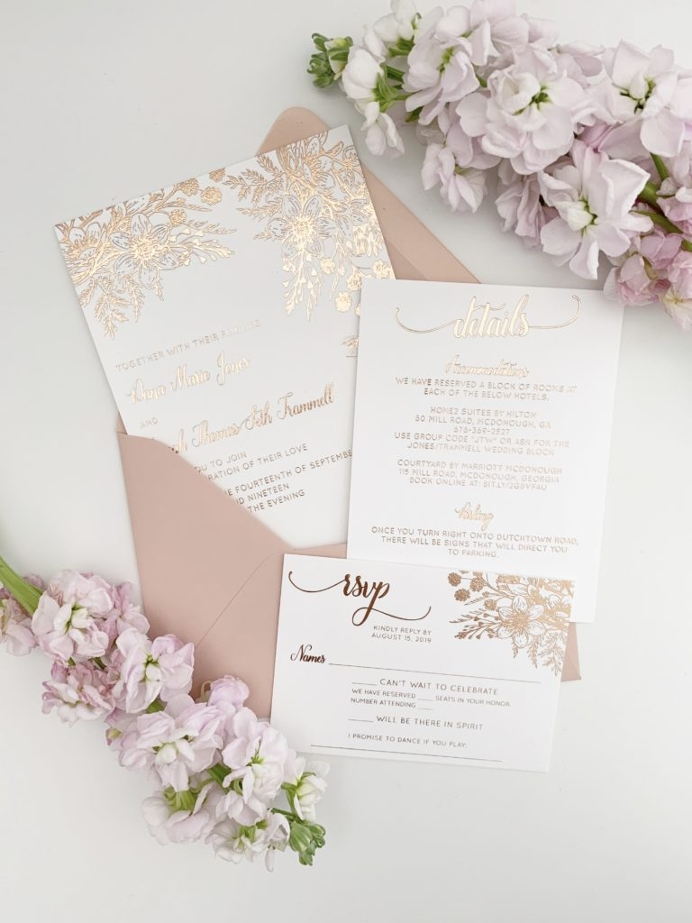 Rose Gold Wedding Invitation Trends
