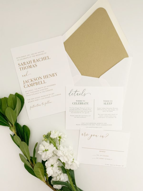 Minimalist Modern Wedding Invitations