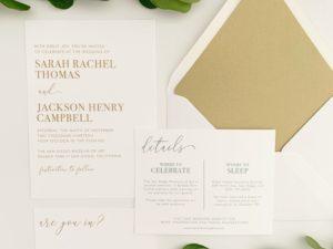 Modern Thermography Wedding Invitations