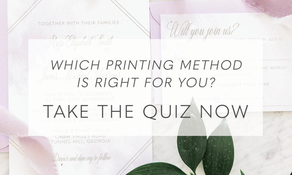 Wedding Invitation Printing Method Quiz
