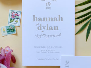 Modern Letterpress Invitations