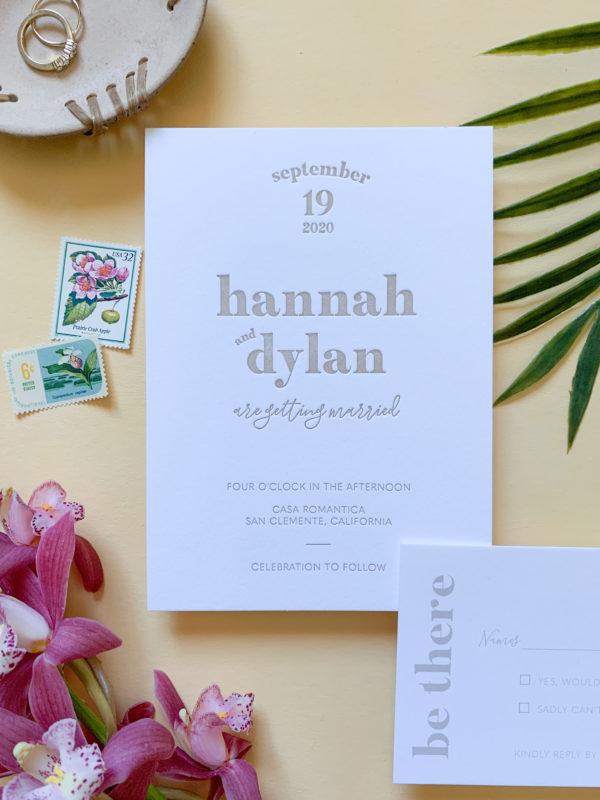 Modern Letterpress Invitations