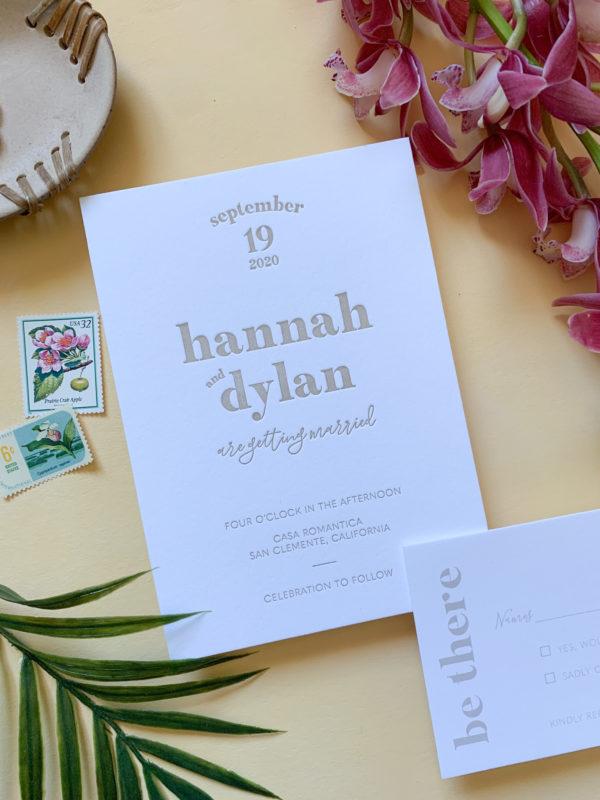 San Diego Letterpress Wedding Invitations