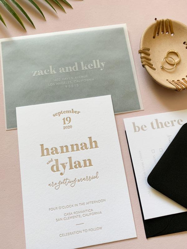 California Casual Wedding Invitations