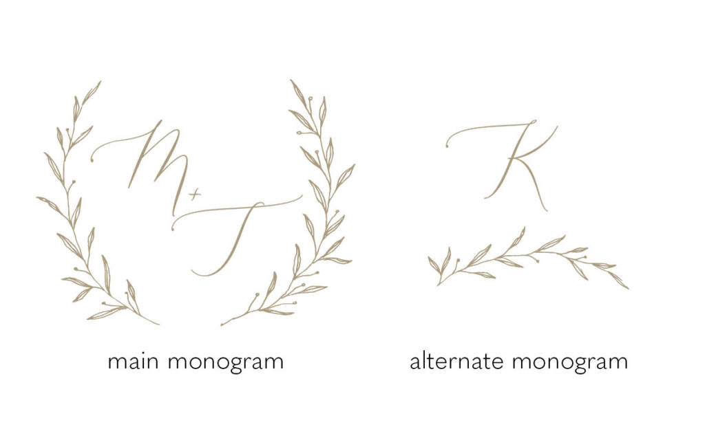 Wedding Invitation Monogram Options