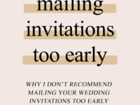 Mistake: Mailing Wedding Invitations too early
